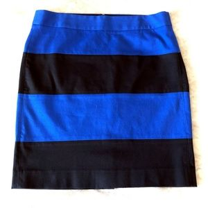 Banana Republic Blue Black Pencil Skirt Sz 14 Tall